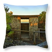 Old Army Lookout In Sunset Hour Throw Pillow
