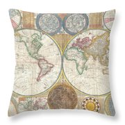 Old Atlas Throw Pillow