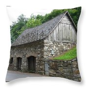 Old Austrian Barn Throw Pillow