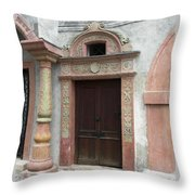 Old Austrian Door Throw Pillow