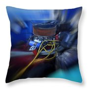Old Bad Blue Throw Pillow