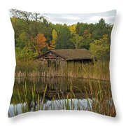 Old Bait Shop On Twin Lake_9626 Throw Pillow