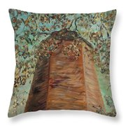 Old Baldy Light House In Teal Throw Pillow