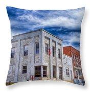 Old Bank Building - Peterstown West Virginia Throw Pillow
