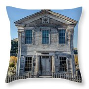 Old Bannack Schoolhouse And Masonic Temple 2 Throw Pillow