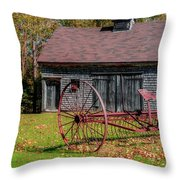 Old Barn And Rusty Farm Implement 02 Throw Pillow
