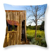 Old Barn And Tree Throw Pillow