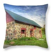 Old Barn At Dusk Throw Pillow