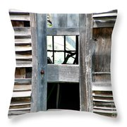 Old Barn Closeup Throw Pillow