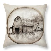 Old Barn Throw Pillow by Eric Fan