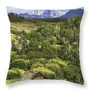 Old Barn, Grand Tetons Throw Pillow