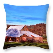Old Barn In California Throw Pillow