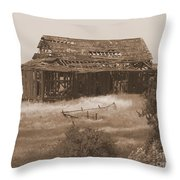 Old Barn In Oregon Throw Pillow