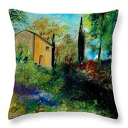 Old Barn In Provence  Throw Pillow