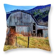 Old Barn In West Virginia Mountains 4836 Fusedt Throw Pillow
