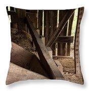 Old Barn Interior Throw Pillow