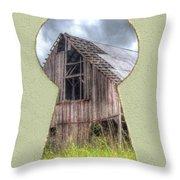 Old Barn Keyhole Throw Pillow