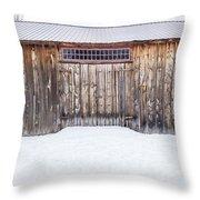 Old Barn Musterfield Farm Throw Pillow