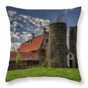 Old Barn Near Sedalia Mo Dsc01900 Throw Pillow