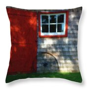 Old Barn New Paint Throw Pillow