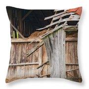 Old Barn Ruin  Throw Pillow