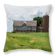 Old Barn Country Scene 4 A Throw Pillow