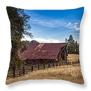Old Barn Storage Throw Pillow