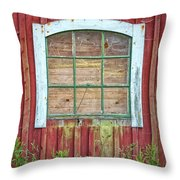 Old Barn Window Throw Pillow