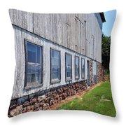 Old Barn Windows Throw Pillow