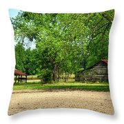 Old Barns In The Woods Throw Pillow