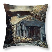 Old Barns Throw Pillow