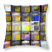 Old Bay Andy Warhol Super Throw Pillow