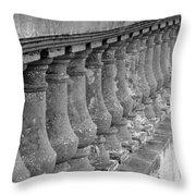 Old Bayshore Balustrades Throw Pillow