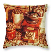 Old Bean Mill Decor. Kitchen Art Throw Pillow
