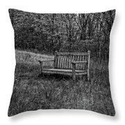 Old Bench Concord Massachusetts Throw Pillow