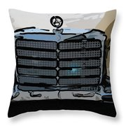 Old Benz Throw Pillow