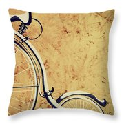 Old Bicycle-part Two Throw Pillow
