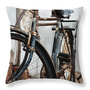 Old Bike II Throw Pillow