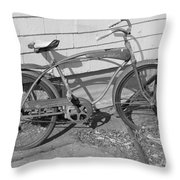 Old Bike Throw Pillow