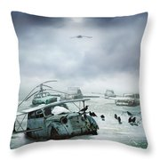 Old Birds Throw Pillow