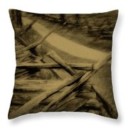 Old Bloody Lane Throw Pillow