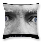 Old Blue Eyes Poster Print Throw Pillow