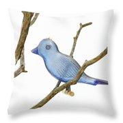 Old Bluebird Ornament Throw Pillow