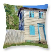 Old Board House Throw Pillow