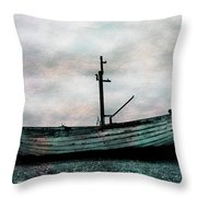 Old Boat At Aldeburgh Throw Pillow