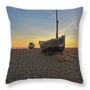 Old Boat, New Day Throw Pillow