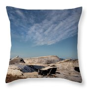 Old Boats Throw Pillow
