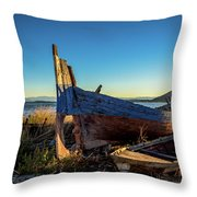 Old Boats#1 Throw Pillow