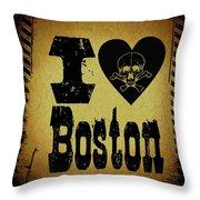 Old Boston Throw Pillow