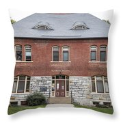 Old Botany Building Penn State  Throw Pillow